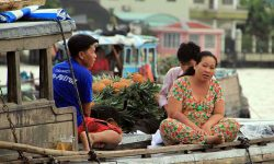 Visiting floating markets